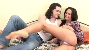Cutie stands doggy style getting vagina drilled off out of one's mind vibrator