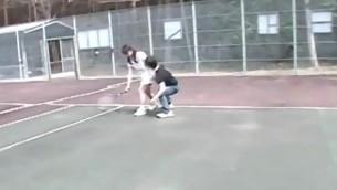 tenåring asiatisk utendørs fingring